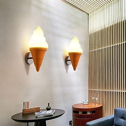 Amazoncom Q Xhc Ice Cream Cone Ice Cream Wall Lamp Cafe Restaurant