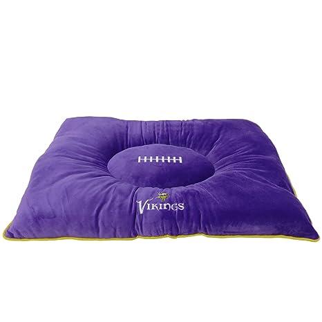 PETS FIRST NFL Mascota Cama – Minnesota Vikings Suave y Acogedor Peluche. Cuddle, Cama