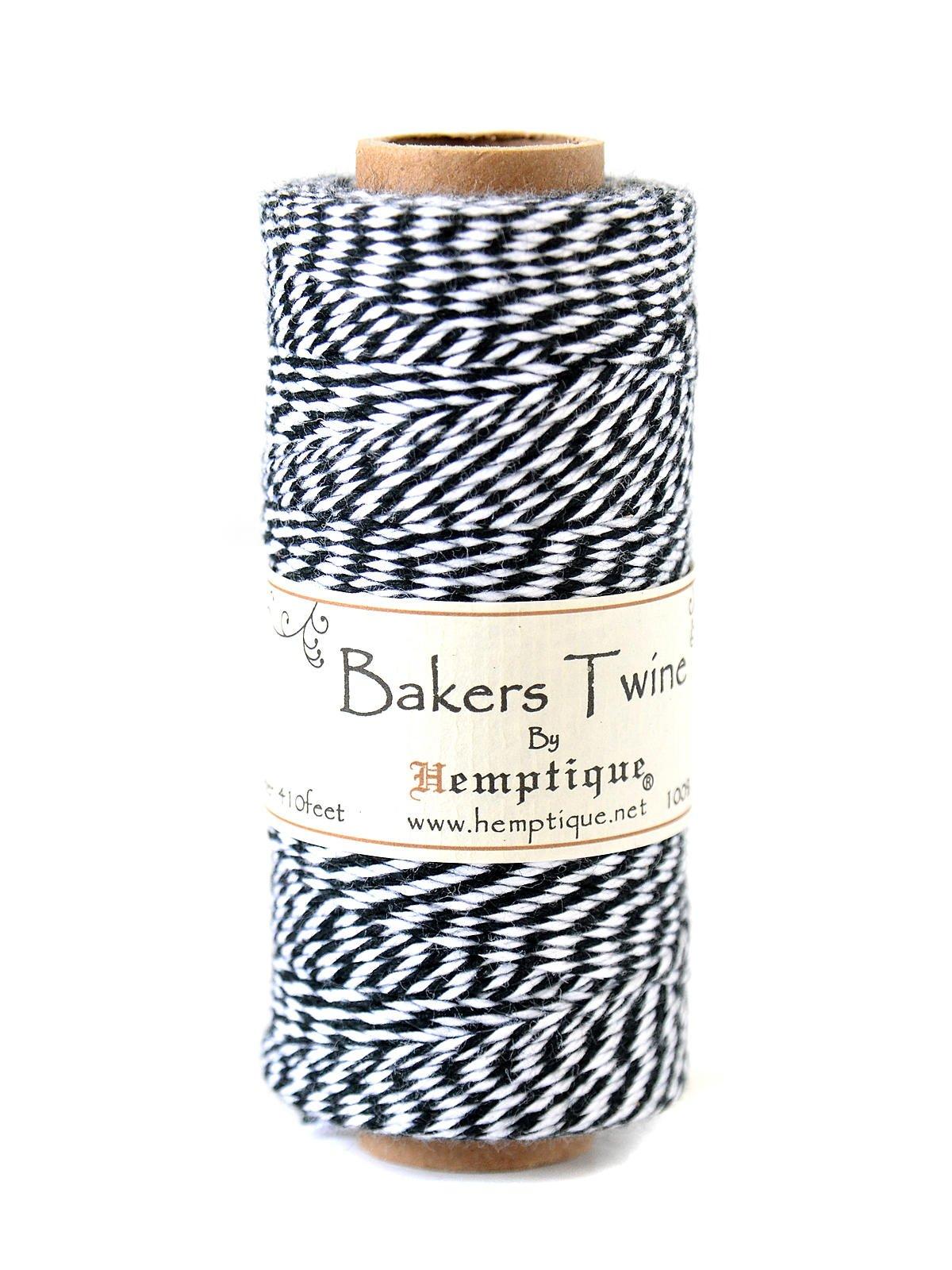 Hemptique Bakers Twine Spools cotton 410 ft. black/white [PACK OF 6 ]