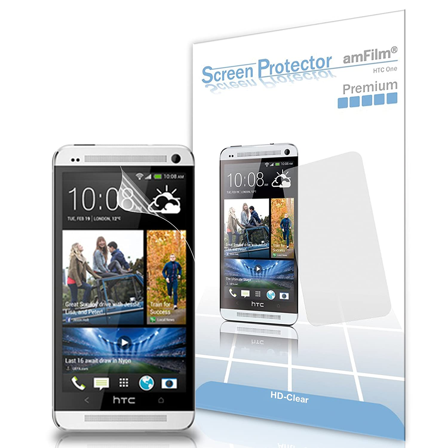 Htc One Screen Protector Amfilm Premium Hd Clear Rod Belt Tempat Handphone For M7 2013 3 Pack Cell Phones Accessories