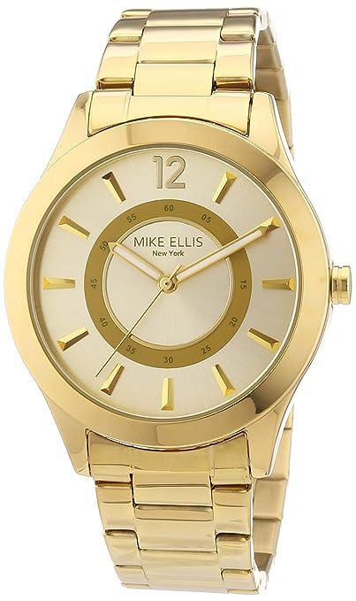 3 opinioni per Mike Ellis New York- Orologio da polso donna, acciaio inossidabile, colore: oro