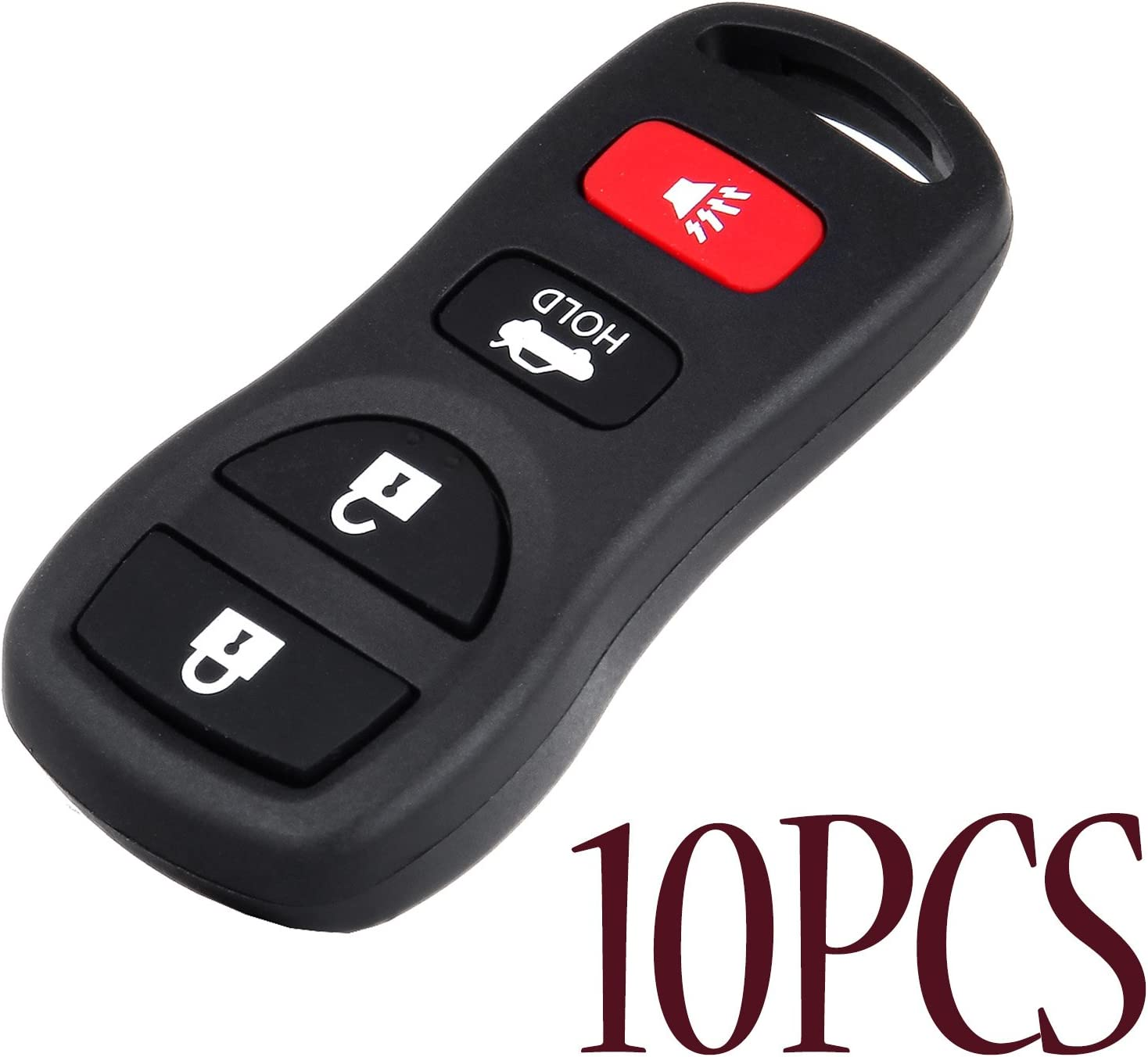 TUPARTS 10 Keyless Entry Remote Car Key Fob Compatible for 2006-2012 Infiniti I35 2003-2016 Infiniti EX35 Car Keyless Entry Remote Replacement for KBRASTU15