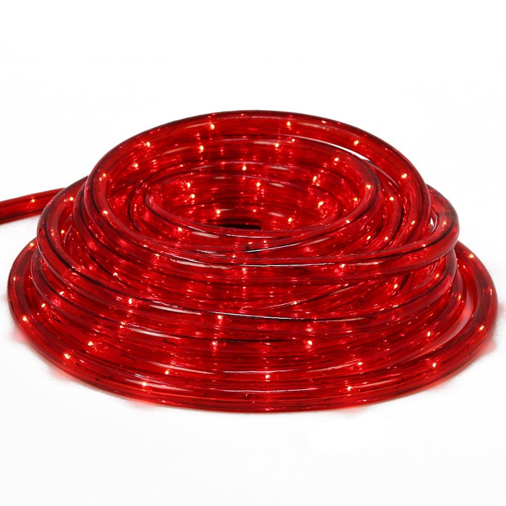 com-four® LED Lichtschlauch in rot, Flexible 9 Meter Lichterkette z.B. ALS Weihnachtsbeleuchtung für Drinnen und Draußen