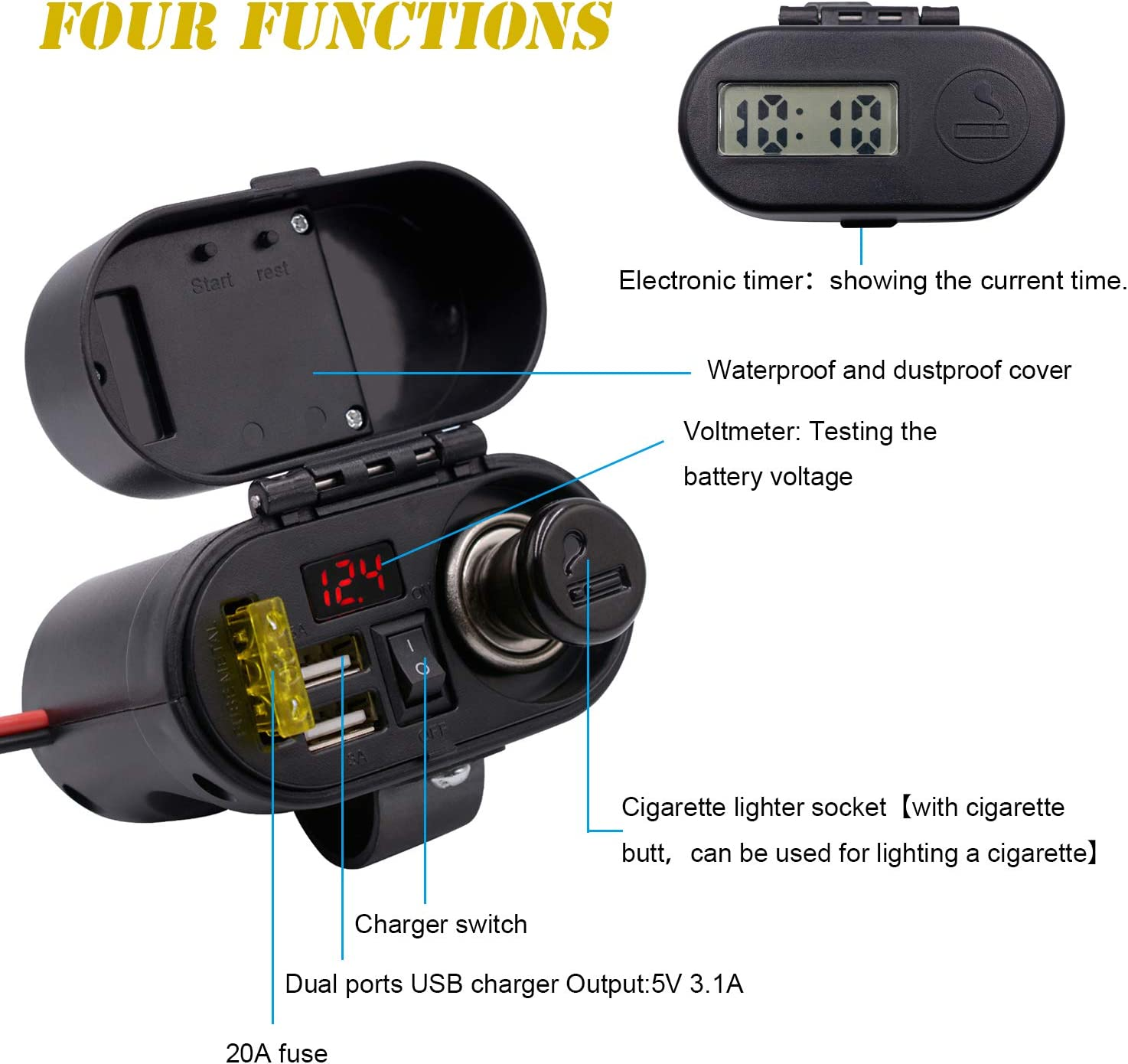 Details about  /USB 5v Charger Power Cable Compatible with  Exposure Strada MK3 Bike Light