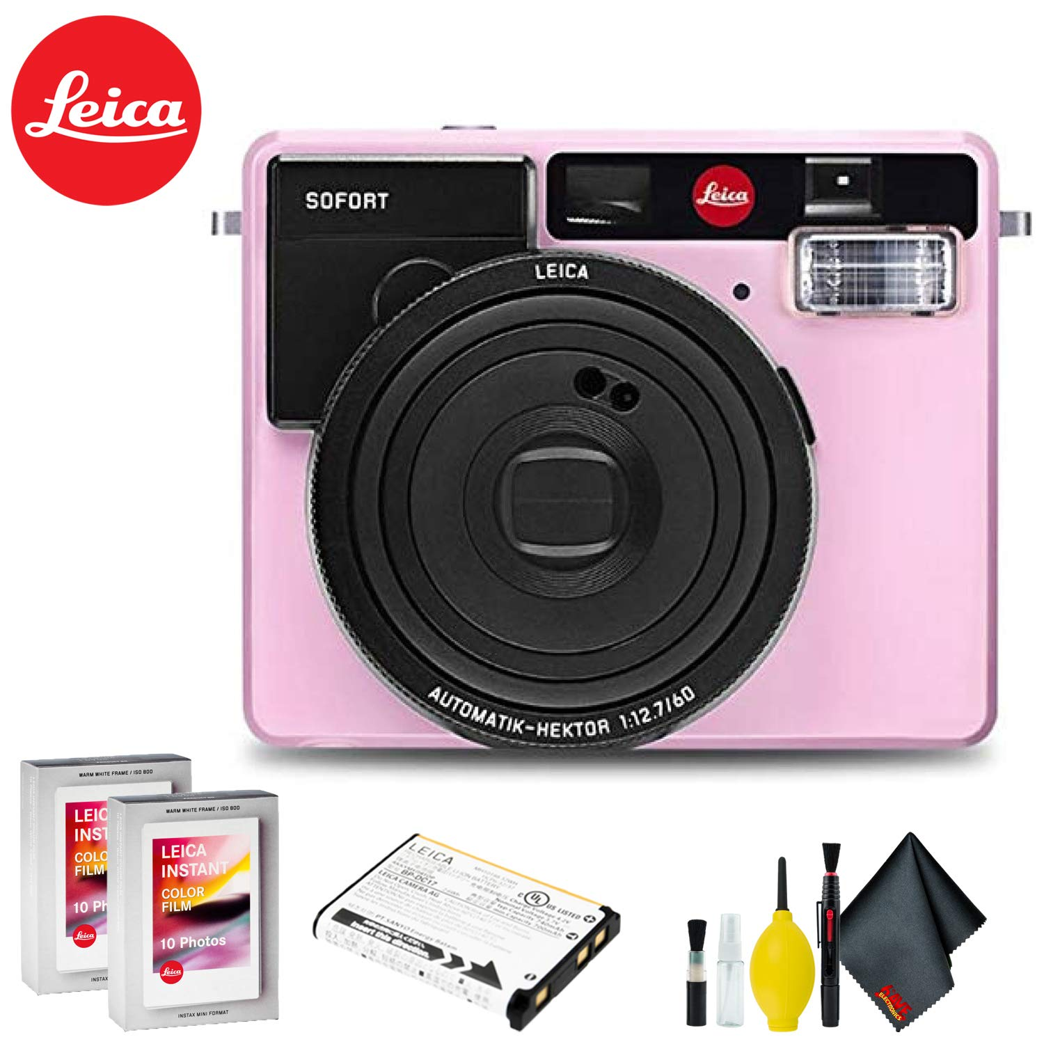 Leica Sofort Instant Film Camera (Pink) Ultimate Kit by Leica (Image #1)