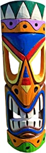 "All Seas Imports 20"" Multi-Color Vibrant Hawaiian Beach Luau Style Wall Decor Tiki Mask!"