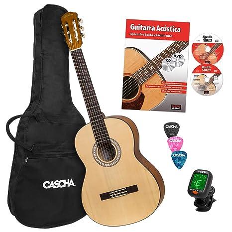 CASCHA Student Series 4/4 Guitarra Clásica para principiantes ...