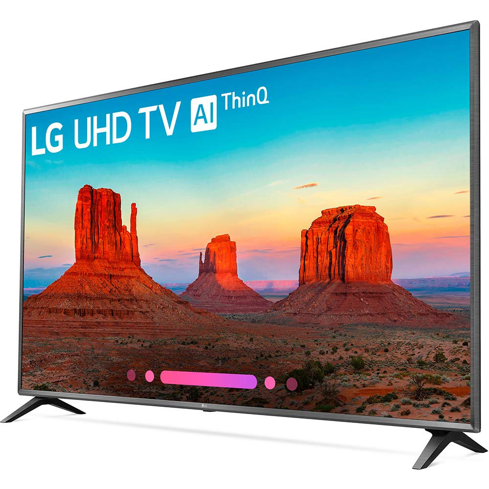 LG Electronics 75UK6570PUB 75-Inch 4K Ultra HD Smart LED TV (2018 Model)  (Renewed)