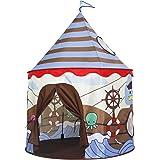 Homfu Tenda Casetta per Bambini e Bambine per Campeggio Esterno Tenda Giocattolo per Bambini con (Brown)