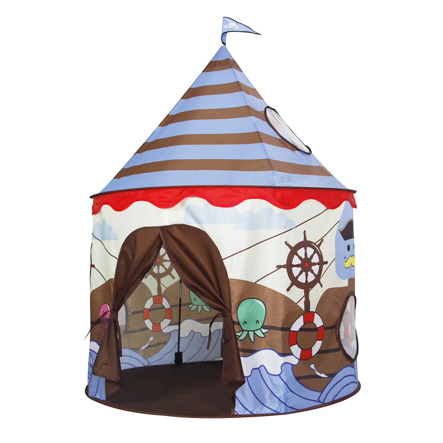 Homfu Play Tent For Kids Castle Playhouse For Children Boys Viking Pattern Popup Tent  sc 1 st  Amazon.com : cheap childrens tents - memphite.com