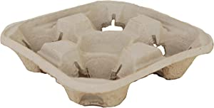Southern Champion Tray 0117 ChampWare Molded Fiber 4 Cup Drink Carrier, Hold 8 to 32 oz Cup (Case of 300)