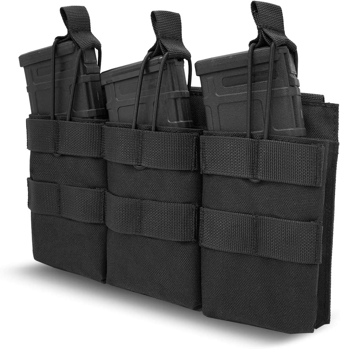 ProCase Funda para Cargadores de Rifle Pistola Escopeta,Cartuchera Táctica Porta Cartucho con Cinta Elástica para M4 M14 G36 HK416 Glock M1911 92F –Negro