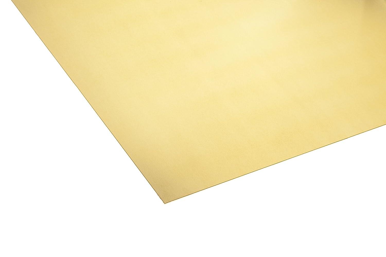 Oberfl/äche blank im Zuschnitt CuZn37 B/&T Metall Messingblech 2,0 mm stark aus Ms63