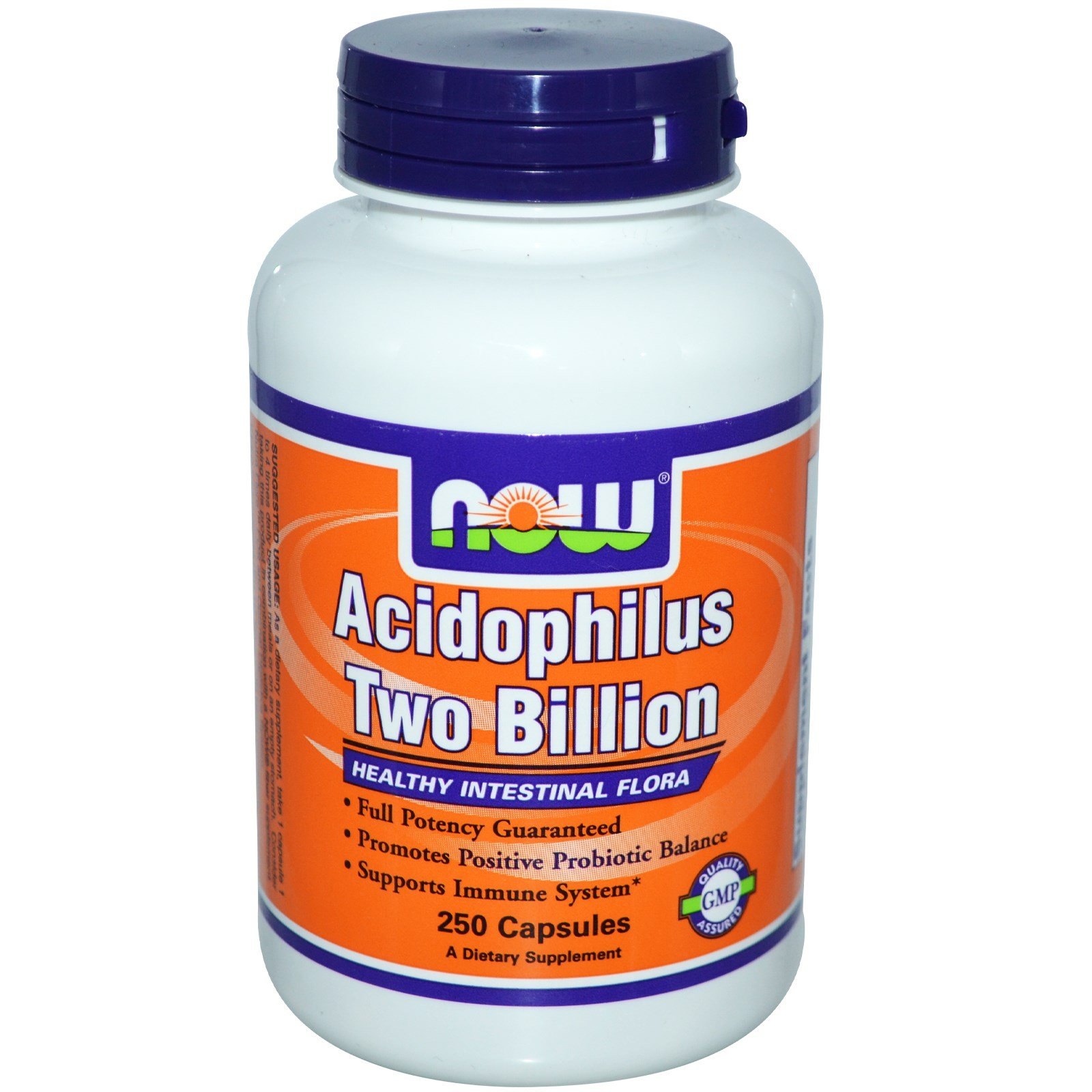 Now Foods Acidophilus Two Billion, Capsules, 250-Count (Pack of 3)