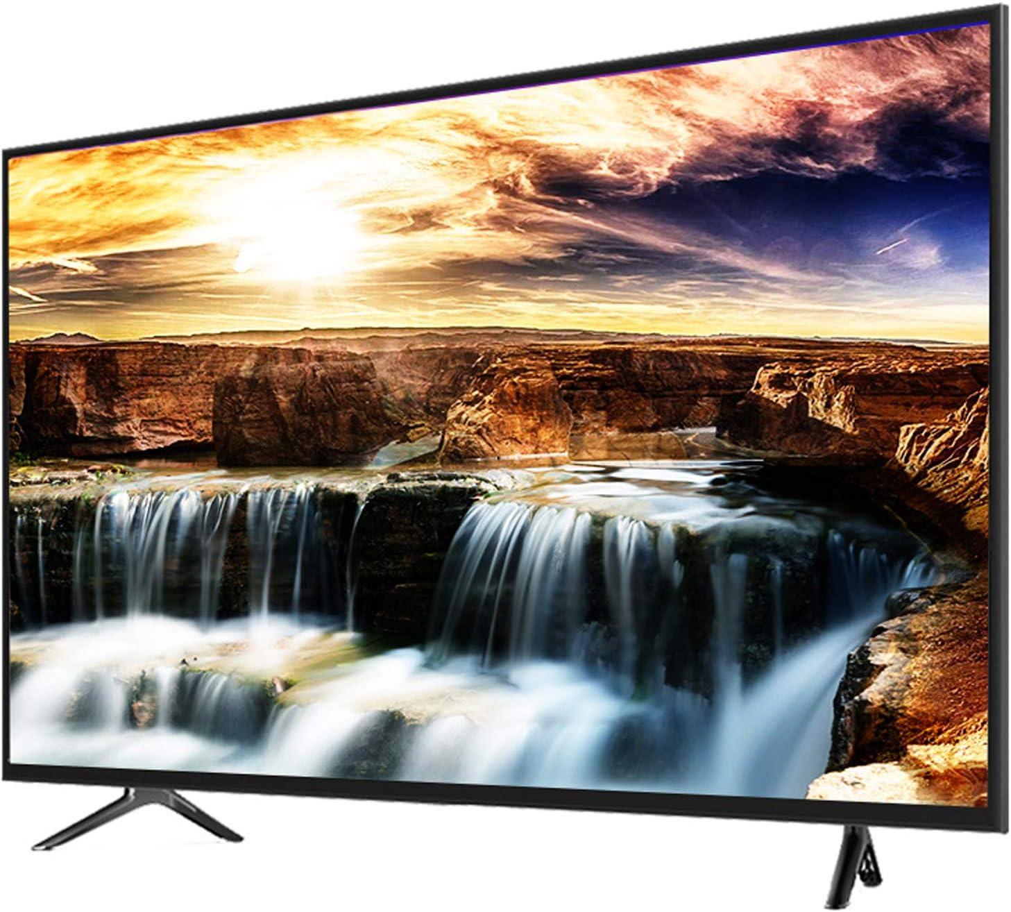 YILANJUN Televisor HD LCD - 32/42/50/55/60 Pulgadas Smart UHD TV 4K [WiFi + Multifunción + Configuración Alta] (Proyección Inalámbrica + Control por Voz)