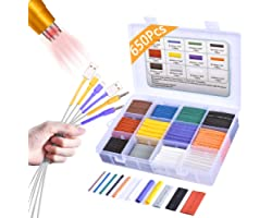 Pointool Heat Shrink Tubing Kit-Wire Shrink Wrap Tubing Wire Heat Shrink Tube Kit Insulation Electrical Colored Assorted Heat