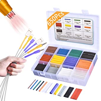 5 Colors//5 Sizes Insulation Electrical Colored Assorted Heat Shrink Tubing for Wires 100 Pcs Heat Shrink Tubing Kit Electrical Wire Cable Wrap Assortment