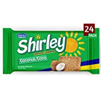 Wibisco Shirley Coconut Biscuits, 3.7 Ounce (Pack of 24) Real bits of Coconut, Ideal for Breakfast, Snack, Dessert…
