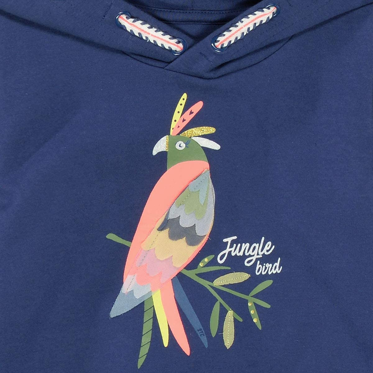 Mid Blue Staccato Hoodie Jungle Bird