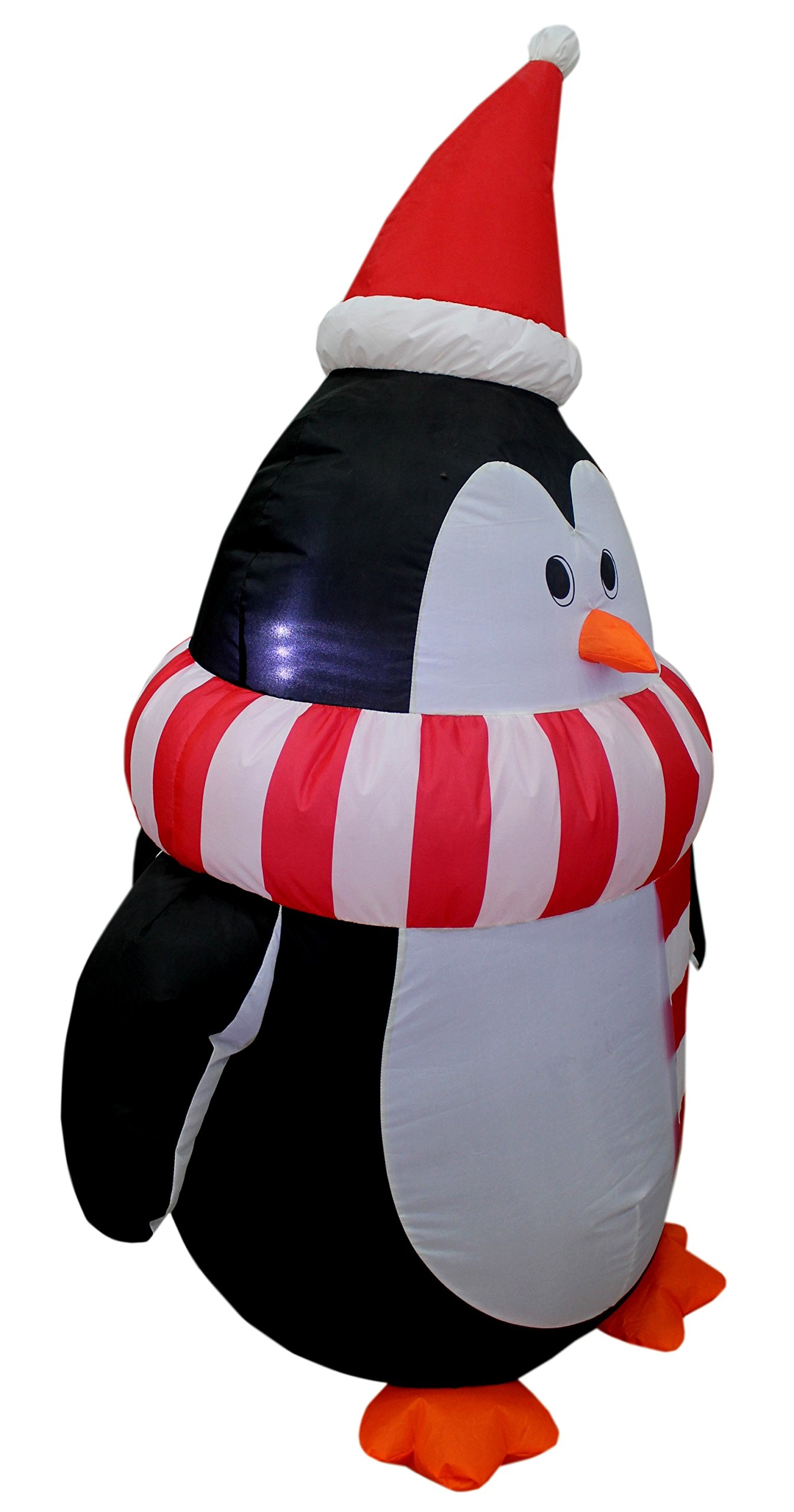 4 Foot Tall Christmas Inflatable Cute Penguin with Scarf Yard Decoration by BZB Goods (Image #2)