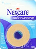 Nexcare Absolute Waterproof First Aid Tape, 1-Inch x 5-Yard Roll (Pack of 4)