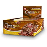 Quest Nutrition Proteina Bar, Chocolate Brownie, 20g Proteina, 2.12oz Bar, 12 Unidades