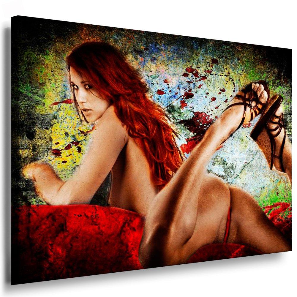 Leinwandbild Akt Erotik Sexy Girl (Bild auf Leinwand 121x81x2cm) k. Poster   Weitere Bilder - Wandbilder - Kunstdrucke - Foto auf Leinwand - Alle Bilder fertig gerahmt mit Keilrahmen.