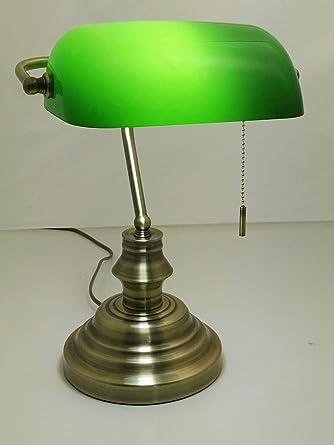 Bankerlampe Tischlampe Büro Lampe für Bibliothek Tischleuchte Leselampe Leuchte
