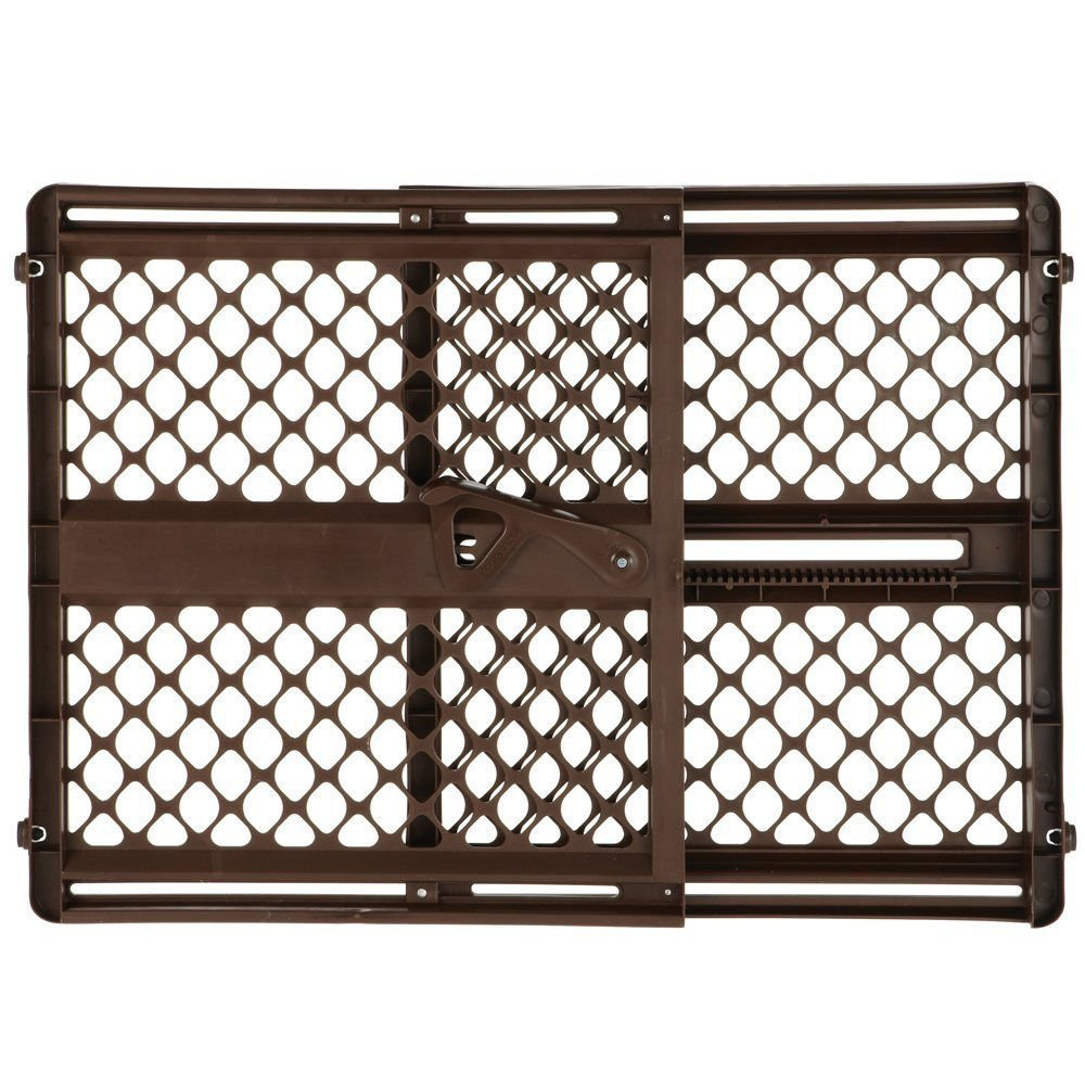 North States Supergate Ergo Baby Child Safety Pet Gate – Espresso 8719