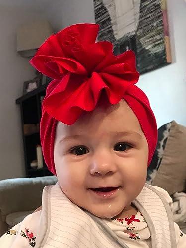 Amazon.com  Baby Ruffle Turban Scarlet Red eb69940147a