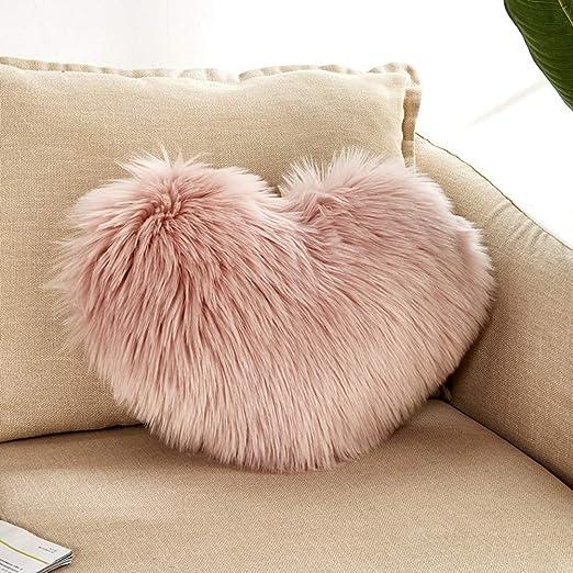 Funda de cojín suave de peluche para sofá, coche, decoración ...