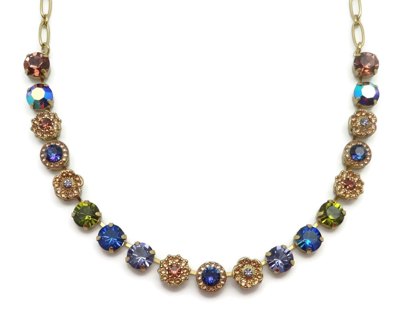 Mariana English Gold Plated Swarovski Crystal Necklace Multi Color Mosaic 1089 Odyssey Penelope by Mariana (Image #1)