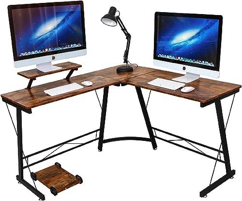 L Shaped Desk Home Office Corner Desk,Gaming Computer Desk,PC Latop Study Writing Table Workstation