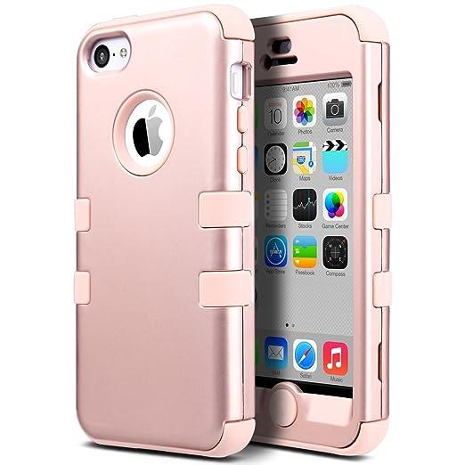 63 opinioni per ULAK- Cover per iPhone 5C Case- iPhone 5C Custodia ibrida a protezione integrale