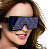 SZOKLED Dynamic LED Glowing Glasses Party Favor, USB Rechargeable LED Light Up Eyeglasses with Flashing Neon, 8 Patterns…