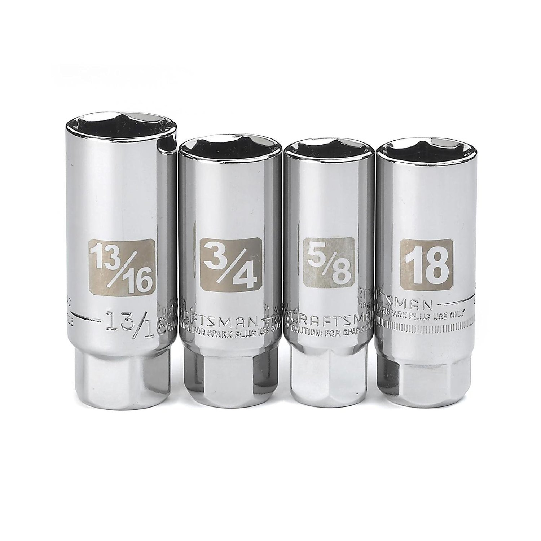 Craftsman 3/8'' Drive 4 Piece Spark Plug Socket Set, 9-34504