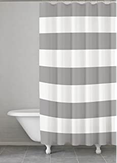 Amazoncom CafePress Grey and white stripe Shower Curtain