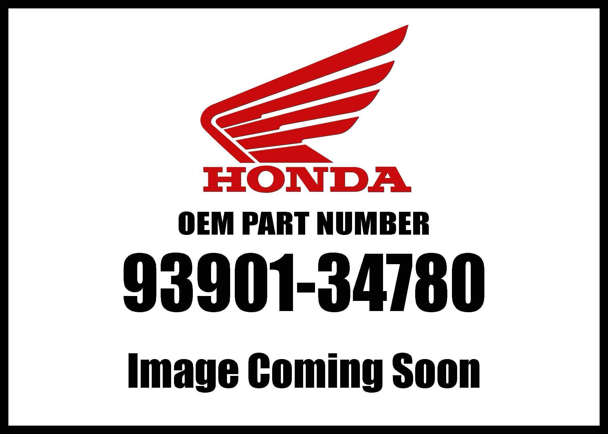 Honda 93901-34780 Screw Genuine Original Equipment Manufacturer (OEM) Part