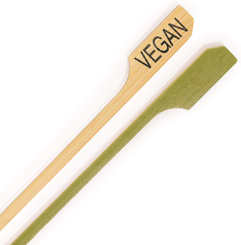 BambooMN - Vegan Label Marker Bamboo Paddle Pick - 3.5