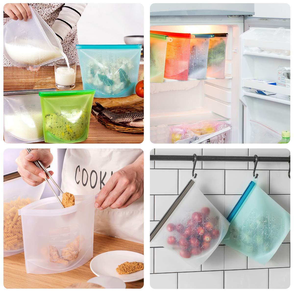 Amazon.com: Bolsas reutilizables de silicona para ...