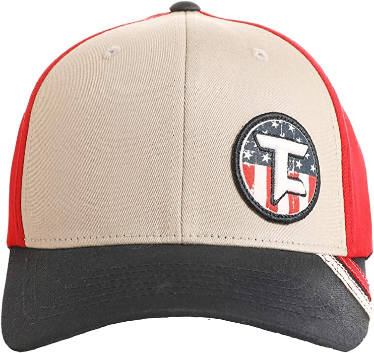 65a8d06a79bc1 Rock   Roll Denim Tuf Cooper American Flag Logo Patch Flex-Fit Snapback Cap  -