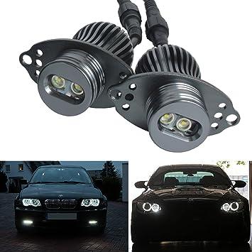 bslighting BMW E90 E91 LCI serie 3 faros Cree LED 20 W Angel Eyes de Halo anillo de luz bombilla: Amazon.es: Coche y moto