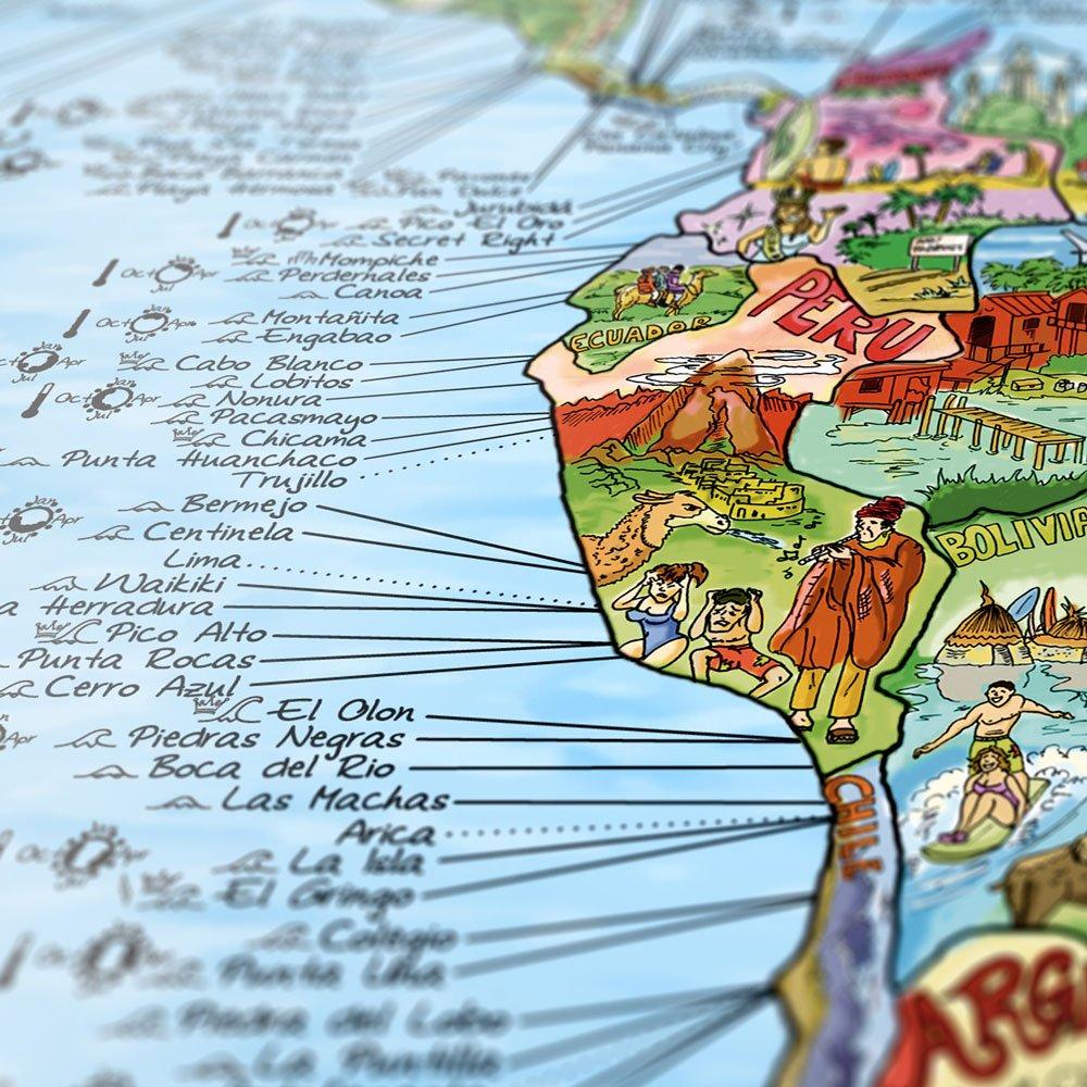 Surf-Weltkarte
