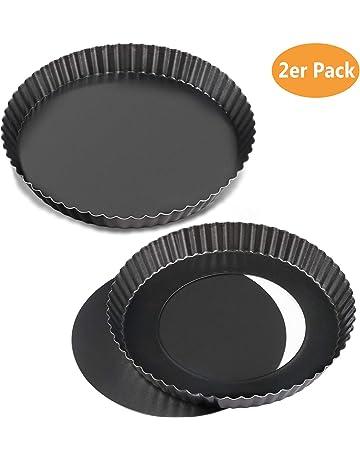 WisFox 2 Non-sticks Pan de Quiche de 8,8 pulgadas, Bandeja de