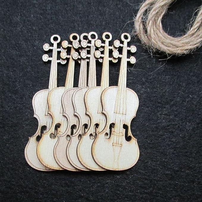 8 Geigen Anhänger in antik goldfarben