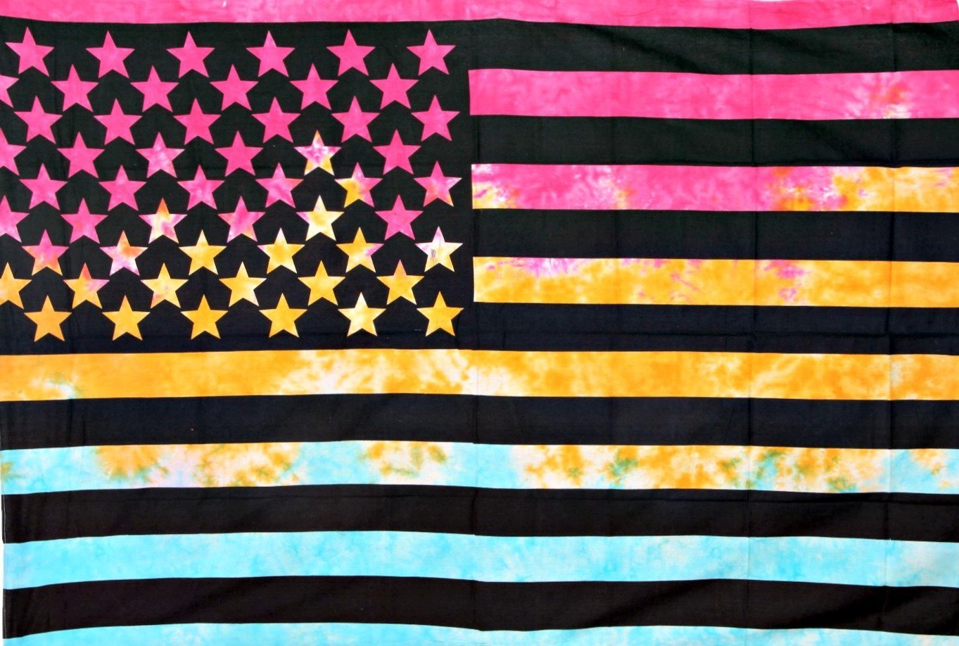 Amazon.com: Multi Tie Dye American Flag Tapestry Dorm Decor US Flag ...