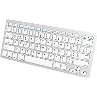 JETech 2156 Universal Bluetooth Wireless Keyboard, White