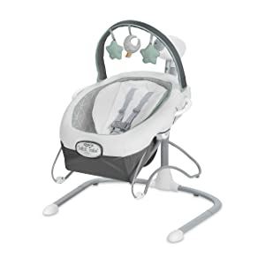 Graco Soothe 'n Sway LX Baby Swing with Portable Bouncer, Derby