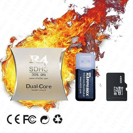 Tarjeta SD Dual-Core SDHC + 32GB 2019 para DS - DS Lite - DSi - DSi XL - 3DS - 2DS - Ya descargue el Kernel ES-IT-FR-DE-UK