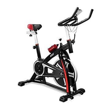 AKONZA Magnetic Exercise Bikes Stationary Home Workout Belt Drive Cycling  Bicycle with LED Monitor Equipment, Purple Creation Date 11/22/2018,  3:15:56